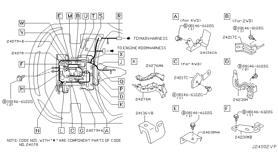 24011 cg100 genuine infiniti 24011cg100 harness assy egi. Black Bedroom Furniture Sets. Home Design Ideas