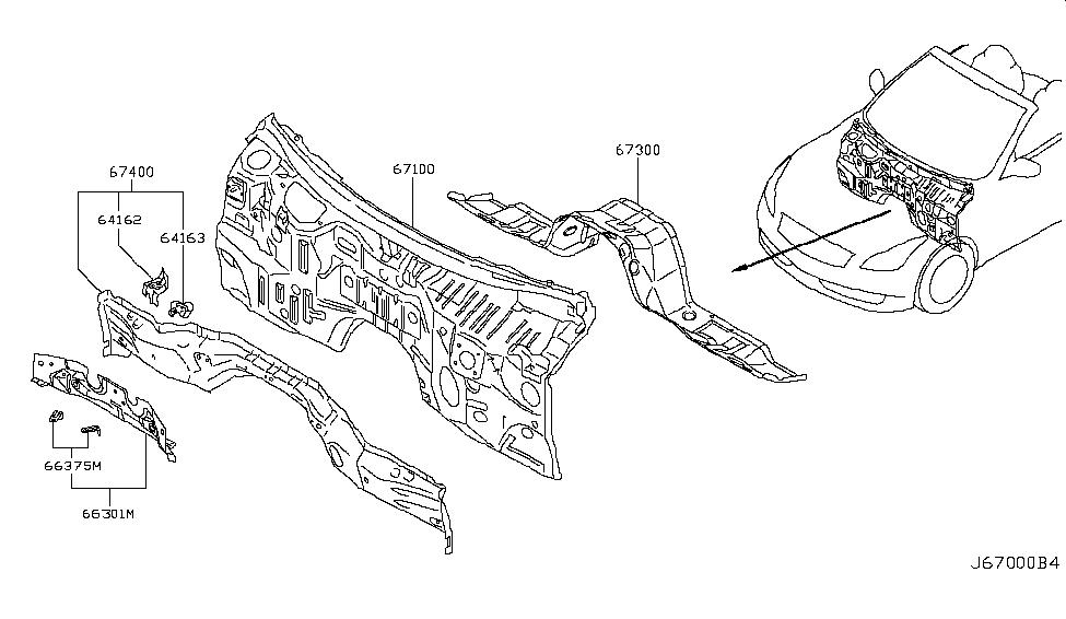 2010 Infiniti G37 Convertible Dash Panel & Fitting