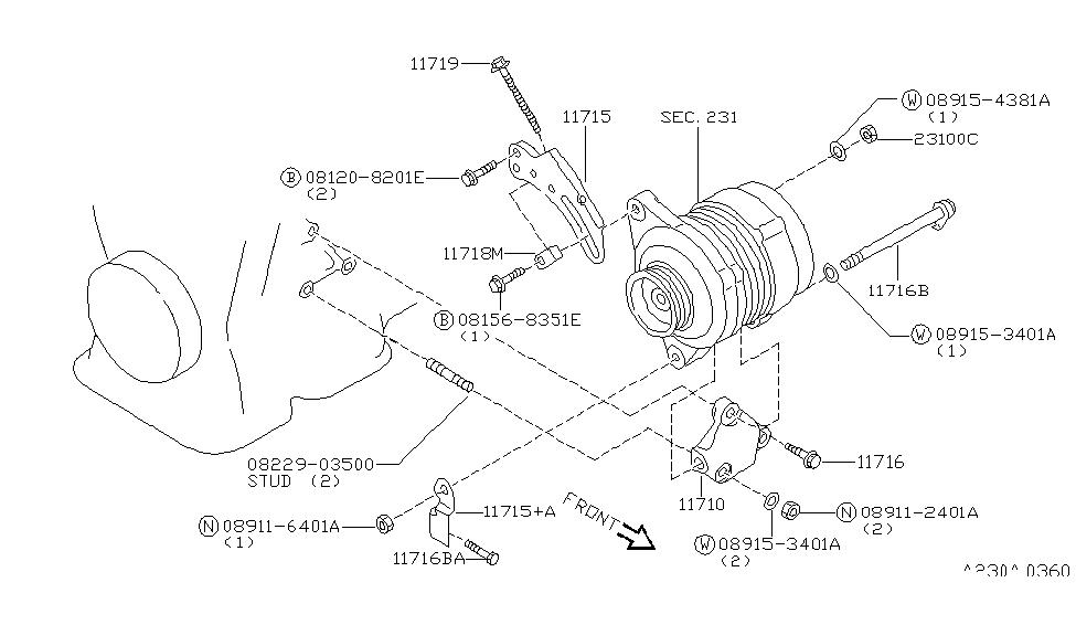 2000 Infiniti G20 Engine Diagram