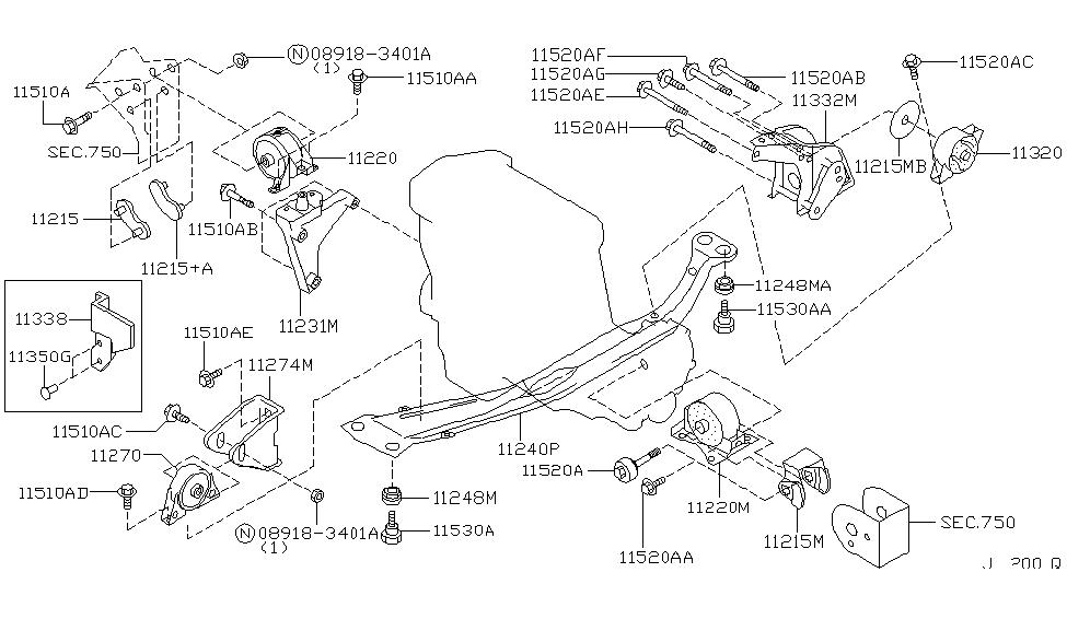 1999 infiniti g20 manual transmission mount