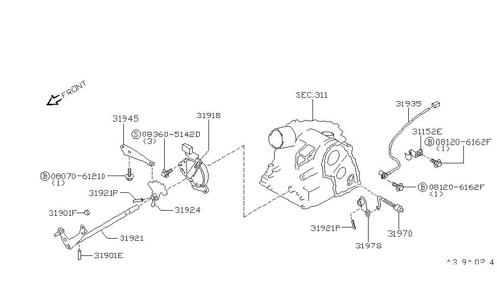 96 infiniti g20 engine diagram    1060 x 1500