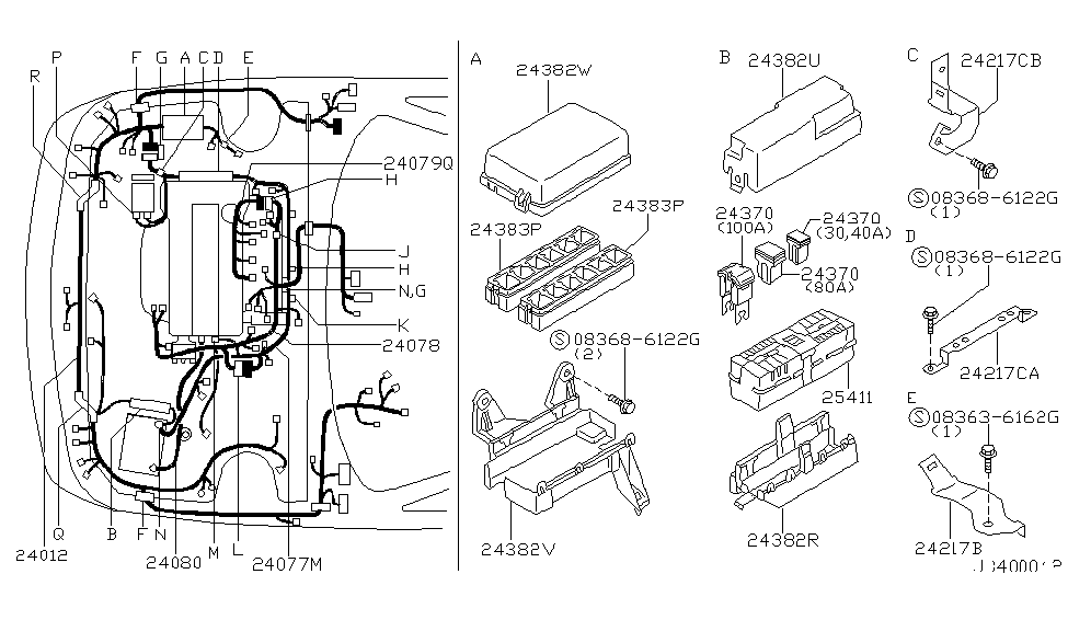 24382 7j100 genuine infiniti 243827j100 cover relay box. Black Bedroom Furniture Sets. Home Design Ideas