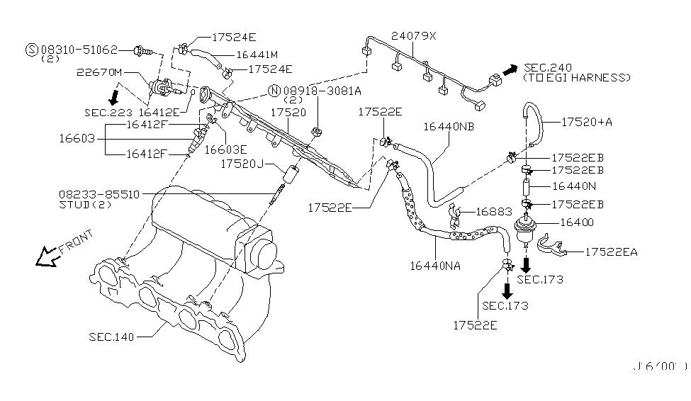 17520-7j400 | genuine infiniti #175207j400 tube assy-fuel infiniti fuel pressure diagram plymouth fuel pressure diagram