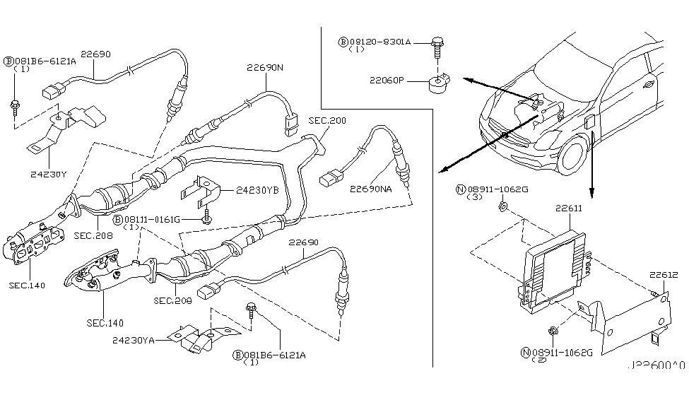 23710-AC010 | Genuine Infiniti #23710AC010 ENGINE CONTROL ...