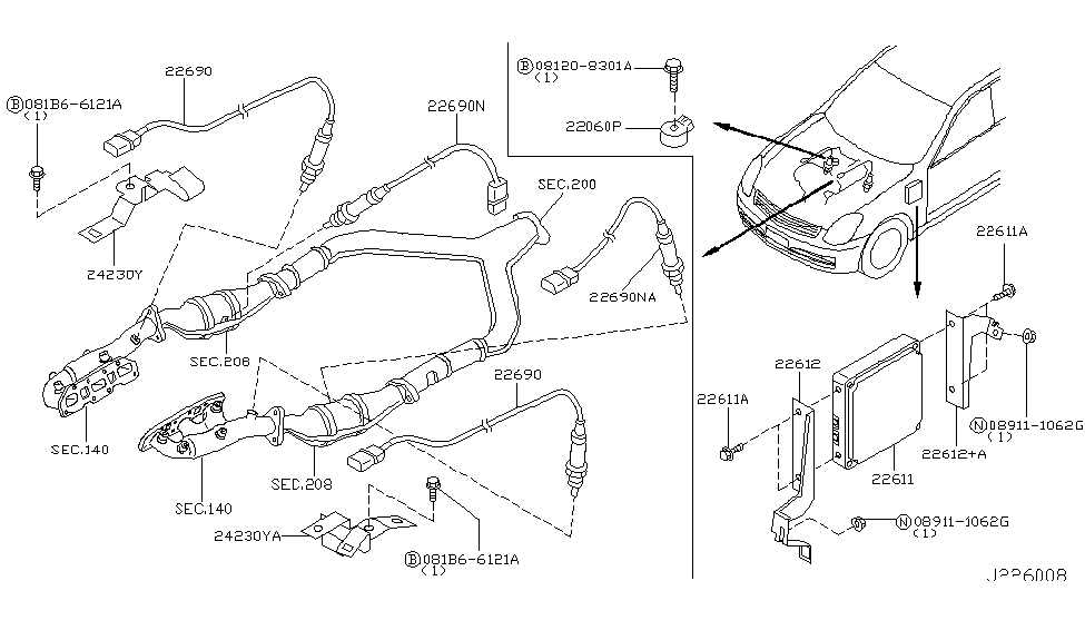 [WQZT_9871]  23710-AC010 | Genuine Infiniti #23710AC010 ENGINE CONTROL MODULE | Infiniti G35 Engine Diagram |  | Genuine Infiniti Parts