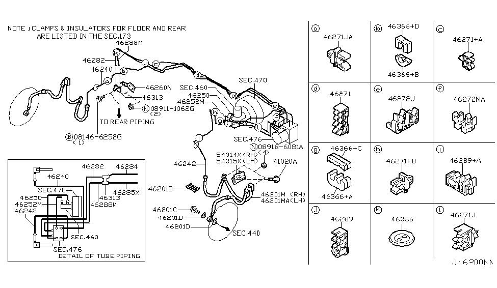 2007 Infiniti G35 Coupe Brake Piping & ControlInfiniti Parts