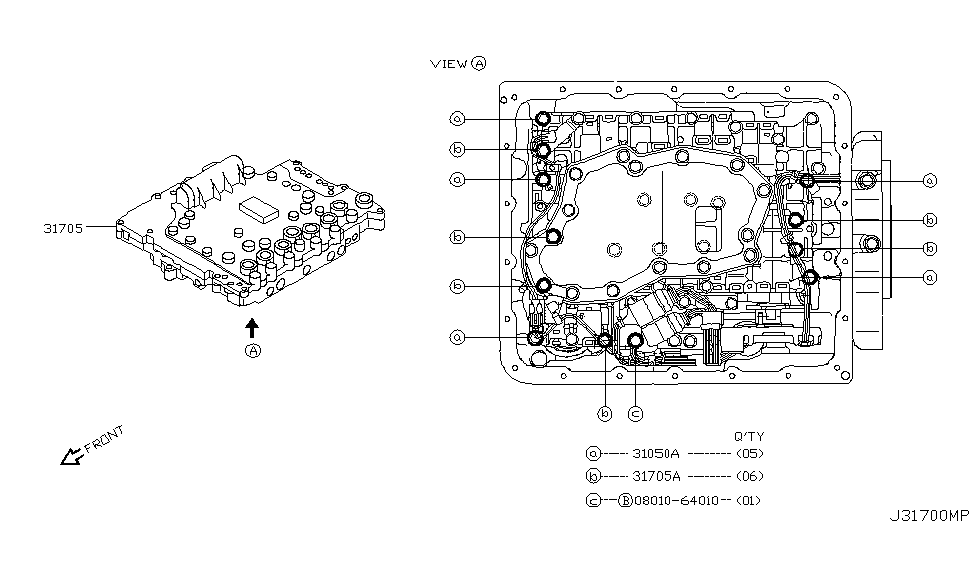 atm reference model diagram 31705 90x11 genuine infiniti 3170590x11 valve assy  31705 90x11 genuine infiniti 3170590x11 valve assy