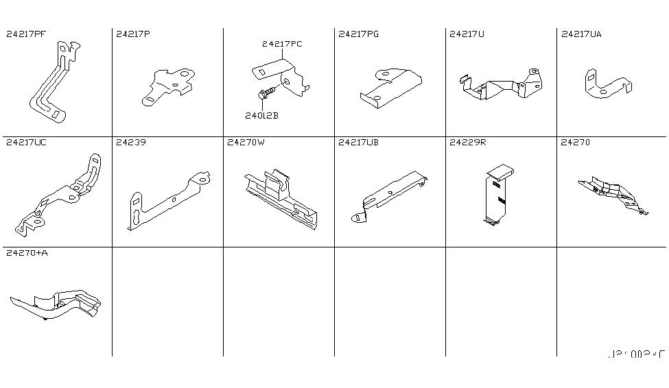 24239 ar201 genuine infiniti 24239ar201 bracket harness. Black Bedroom Furniture Sets. Home Design Ideas