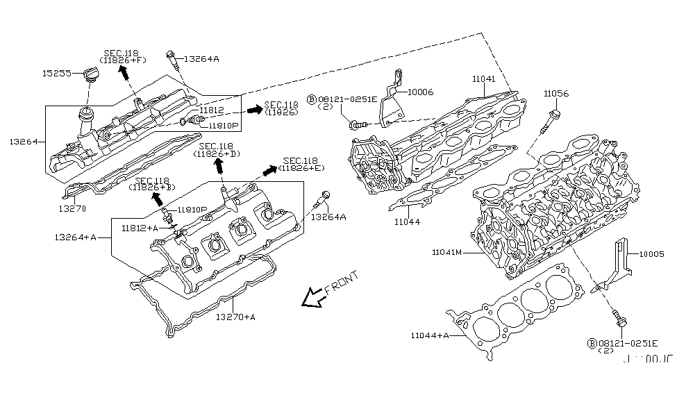 2004 Infiniti M45 Cylinder Head & Rocker Cover on isuzu ascender engine diagram, jaguar xj6 engine diagram, audi s6 engine diagram, ford gt engine diagram, lexus rx330 engine diagram, cadillac xlr engine diagram, jeep comanche engine diagram, nissan rogue engine diagram, mercedes 500 engine diagram, porsche cayenne engine diagram, bmw m3 engine diagram, subaru baja engine diagram, suzuki sx4 engine diagram, plymouth voyager engine diagram, acura tsx engine diagram, nissan 240sx engine diagram, buick regal engine diagram, maserati quattroporte engine diagram, saturn s series engine diagram, porsche 356 engine diagram,