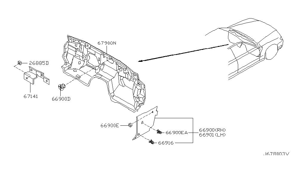 2003 Infiniti M45 Dash Trimming & Fitting - Infiniti Parts ...