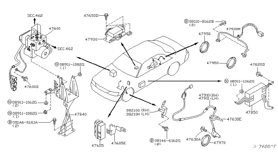 47961 ag060 genuine infiniti 47961ag060 bracket sensor. Black Bedroom Furniture Sets. Home Design Ideas