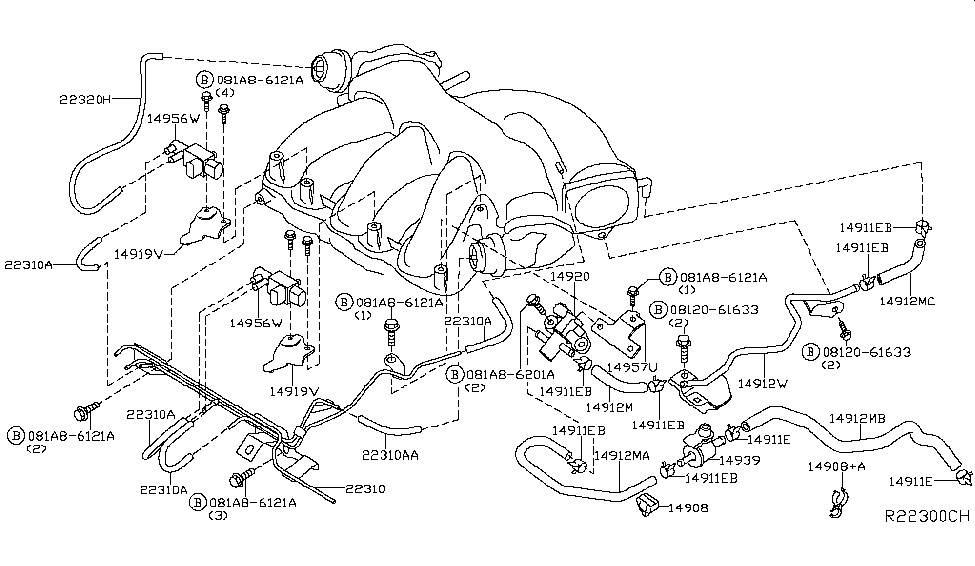 14912 9pf0a genuine infiniti parts 2005 infiniti g35 vacuum diagram