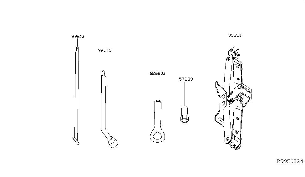 2017 Infiniti QX60 Hybrid Tool Kit & Maintenance Manual