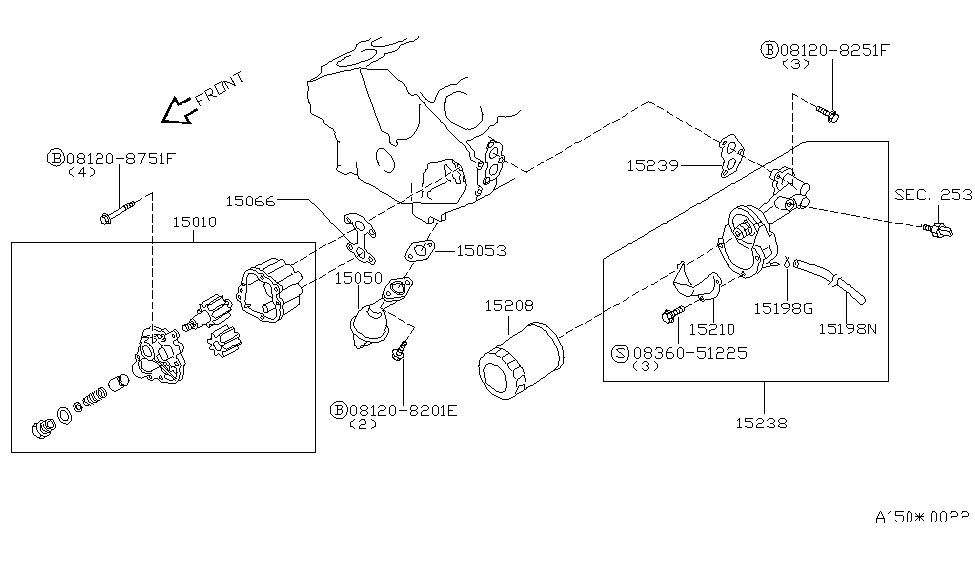 2000 Infiniti Q45 Lubricating System