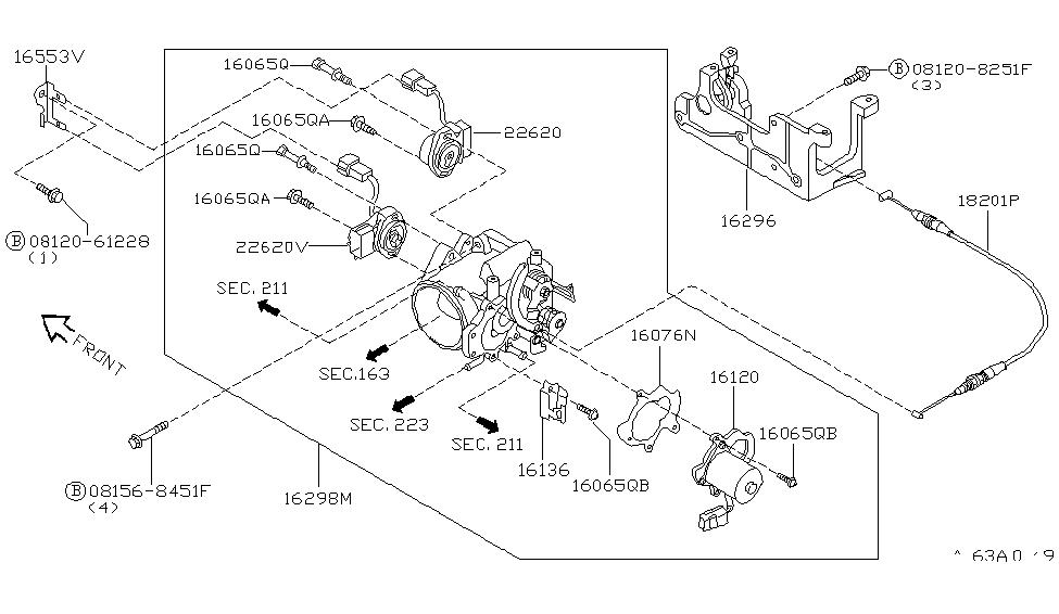 1999 infiniti q45 throttle chamber