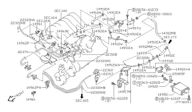 2002 Infiniti QX4 Engine Control Vacuum PipingInfiniti Parts