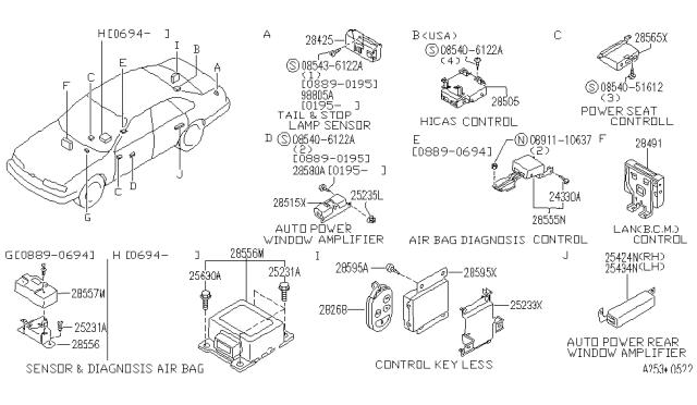 1994 Infiniti Q45 Electrical Unit Infiniti Parts Deal