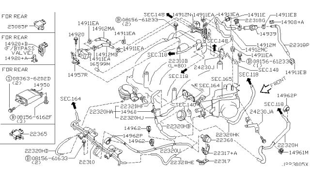 [DIAGRAM_5NL]  2001 Infiniti I30 Engine Control Vacuum Piping   Infiniti I30 Engine Wiring Diagram      Infiniti Parts