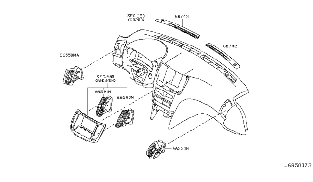 2009 Infiniti G37 Ventilator Diagram