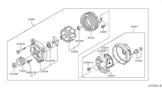 2008 Infiniti EX35 Alternator Diagram