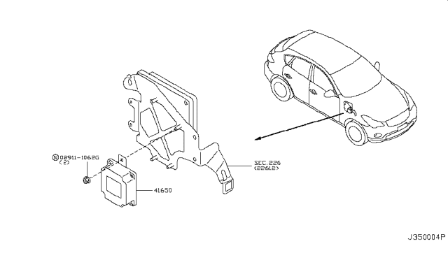 2008 Infiniti EX35 Transfer Control Parts Diagram