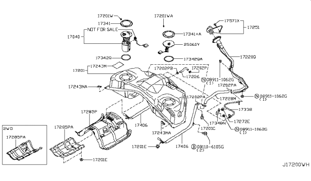 2008 Infiniti EX35 Fuel Tank Diagram