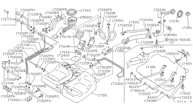 Diagram for Part No.: 16439-35F1A