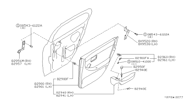 Diagram for Part No.: 82900-11Y16