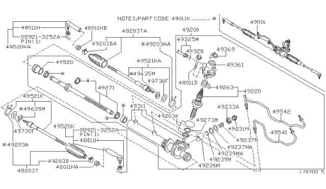 2000 Infiniti G20 Power Steering Gear Diagram