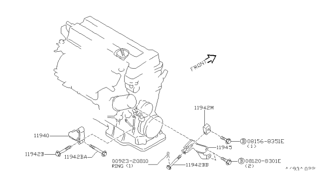 2000 Infiniti G20 Power Steering Pump Mounting Diagram