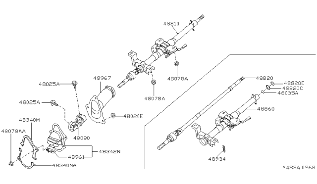 2000 Infiniti G20 Steering Column Diagram
