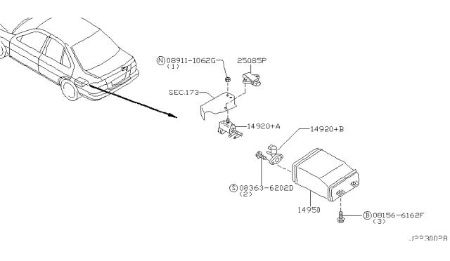 1999 Infiniti G20 Engine Control Vacuum Piping