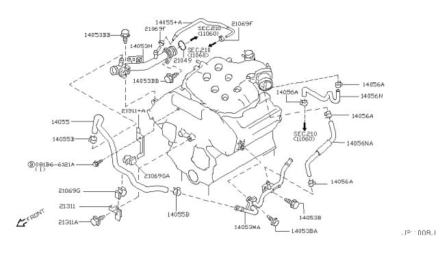2003 Infiniti G35 Coupe Water Hose & Piping - Infiniti Parts DealInfiniti Parts