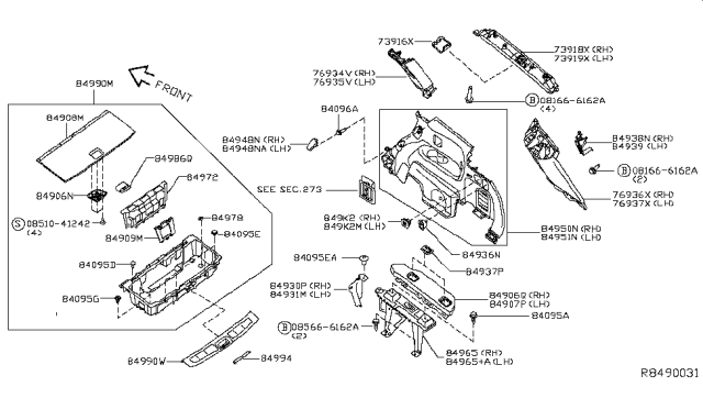 Diagram for Part No.: 84908-9PJ1A