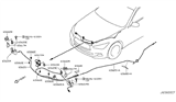 Related Parts for Infiniti Q60 Hood Cable - 65620-4GA1A