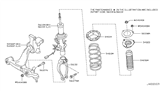 2012 Infiniti FX35 Front Suspension Diagram 7