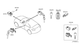 2011 Infiniti FX50 Key Set & Blank Key Diagram 1