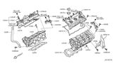 Related Parts for Infiniti M37 Cylinder Head - 11040-EY02C