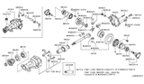 Related Parts for Infiniti M37 Pinion Bearing - 38440-0C000