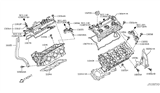 Related Parts for Infiniti M35h Cylinder Head - 11040-4GA0A