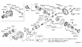 Related Parts for Infiniti M37 Pinion Bearing - 38120-EC000