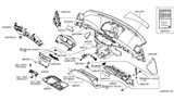 Related Parts for Infiniti M35 Glove Box - 68500-EH20B