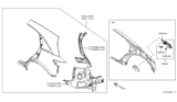 2004 Infiniti FX35 Rear Fender & Fitting Diagram 2