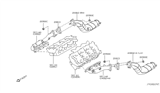 Diagram for Infiniti Catalytic Converter - B08B2-8Y70A