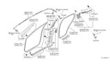 2005 Infiniti FX35 Body Side Trimming Diagram 1