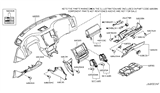 Related Parts for Infiniti FX35 Glove Box - 68500-CL70B