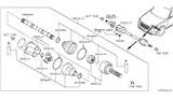 2005 Infiniti FX35 Front Drive Shaft (FF) Diagram 1