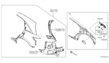 2004 Infiniti FX35 Rear Fender & Fitting Diagram 1
