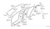 2005 Infiniti FX35 Body Side Trimming Diagram 2