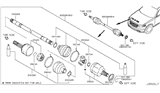 2005 Infiniti FX35 Front Drive Shaft (FF) Diagram 2